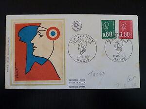 CoopéRative France Premier Jour Fdc Yvert 1891/92 Marianne 1+0,80f Paris 1976