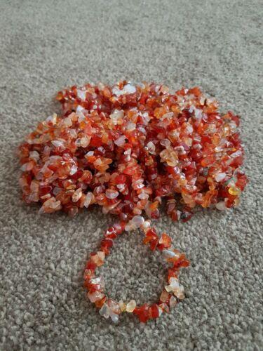 Red Carnelian Chipstone Bracelet Gemstone Jewellery