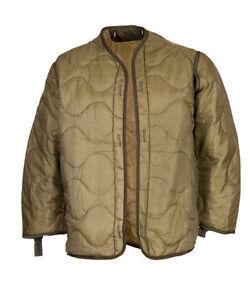 M65 Jacket Parka Liner Original Made Usa Coat Quilted Warm Light Olive New Xs by Ebay Seller