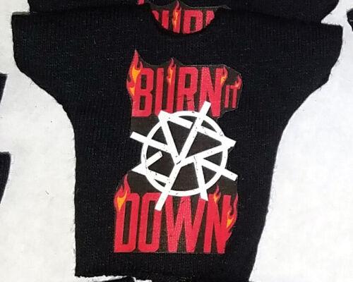 WWE Mattel Elite 1 Custom Seth Rollins Burn It Down Shirt for Wrestling Figure