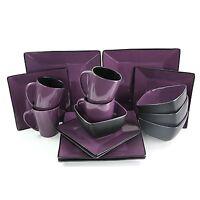 Elama Mulberry Loft Dinnerware Dinner Service Set Service For 4 Plates Bowls