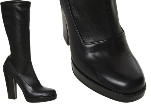 stivali Us10 Bnib pelle Morbida lusso Prada Black Donna di Eu40 Calzature scarpe Uk7 Uqx0Ow