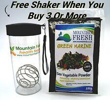 GREEN MARINE Detoxifying/Alkalising Powder 100g Organic Sea Vegetable Supplement