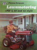 Massey Ferguson Mf 7 8 10 12 14 Lawn Garden Tractor Color Sales Brochure 20pg