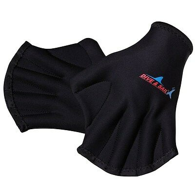 Breakout Neoprene Quick Fast Paddle Hand Training Diving Swim Surf Webbed Gloves