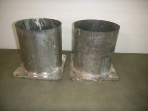 "Details about 2 Vintage CANDLE MAKING Molds TUBE 6"" x 6 1/2"" long Tin Metal"