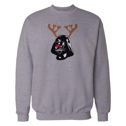 Da Uomo Felpa Natale Novità Natale Top Penguin Pan di Zenzero Darth Vader stampa