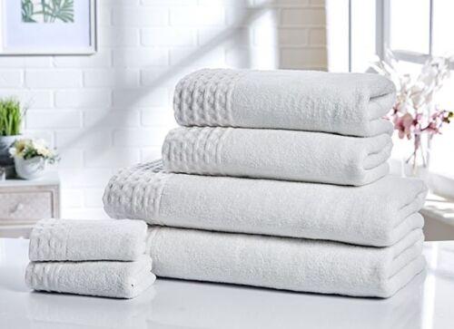 Rapport 100/% Cotton Retreat 6pc Towel Bundle Face Cloths Hand Towels Bath Towels