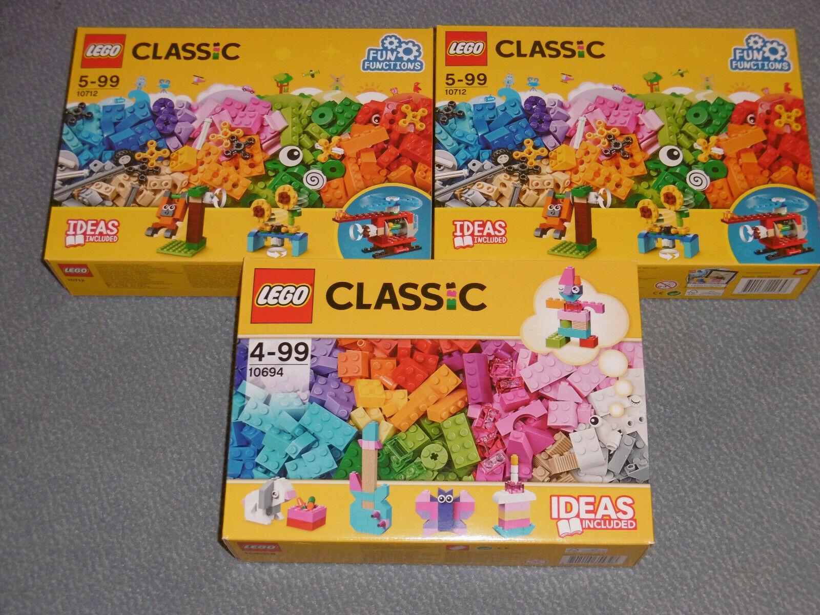 2 x Lego Classic 10712  und 1 x Lego Classic 10694