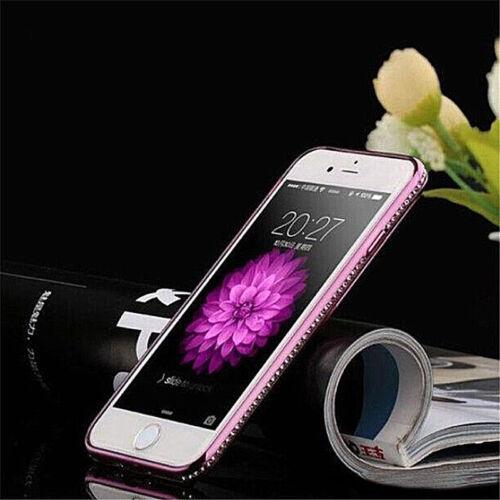 Protección móvil funda brillo TPU iPhone de silicona protección pedrería diamante cover bumper