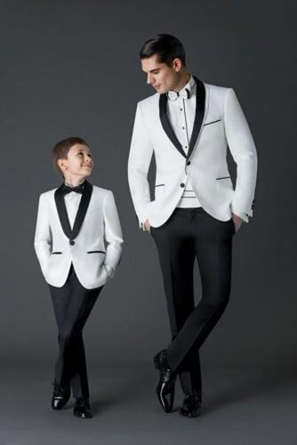 Boys/' Wedding Suits White Shawl Collar Boy Jackets Pants Evening Party Tuxedos