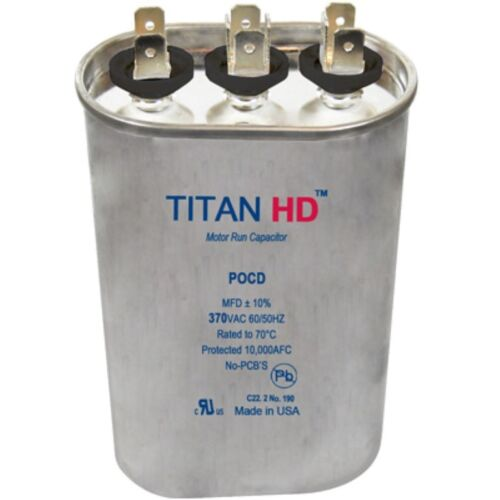 Mars Replacement Titan Hd Run Capacitor 20+3 Mfd 370V Oval 12961 By Titan