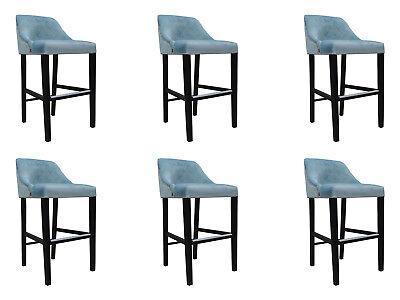 6x Design Sedia Completo Set Sgabelli Da Bar Sgabello Chesterfield Set Sedie Set-mostra Il Titolo Originale Essere Romanzo Nel Design