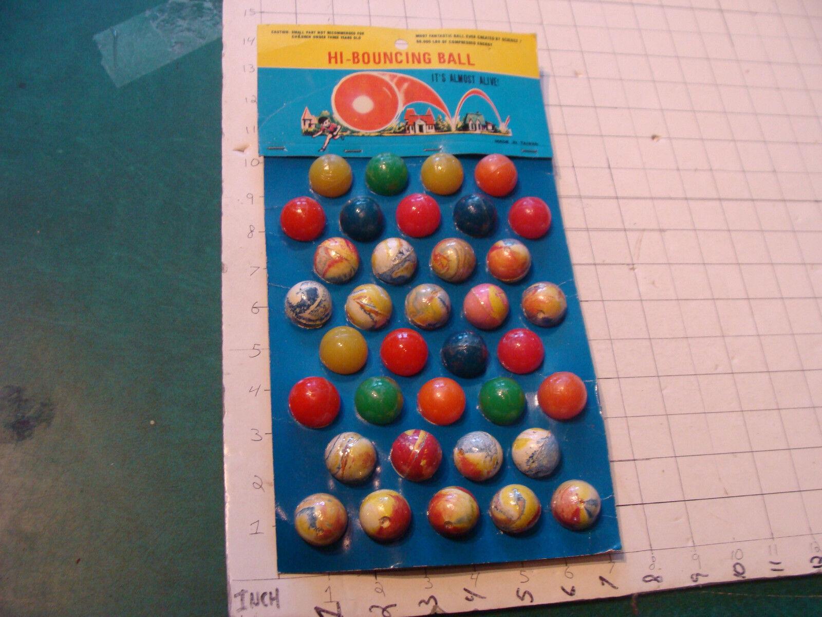 Vintage 36 bolas de alta rebote de 36 W tarjeta década de 1980 de Taiwán, muy cool pantalla 2