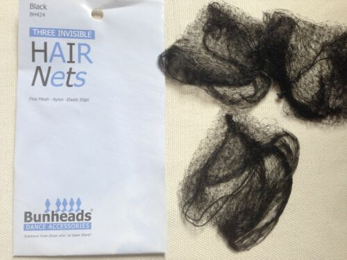 BUNHEADS INVISIBLE HAIR NETS 3 Per Pack Various Colours