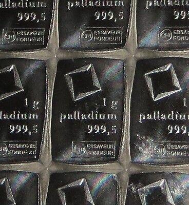 Vast 1 Gram (1g) 999.5 Fine Palladium Valcambi Swiss Bullion Bar (not Gold Or Silver) Structurele Handicaps