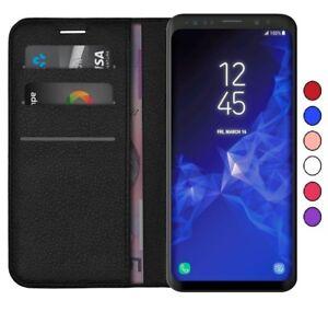 Samsung-J6-A6-J4-J6-S7-S8-S9-S10-Lite-Abatible-Cuero-Billetera-De-pie-Estuche-Plus-Cubierta