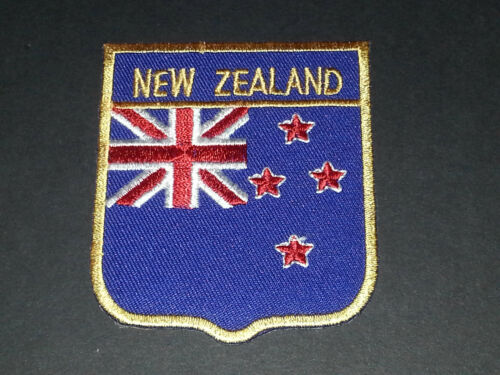 NEW ZELAND BACKPACKERS NATIONAL COUNTRY SHIELD FLAG SEW//IRON ON PATCH: