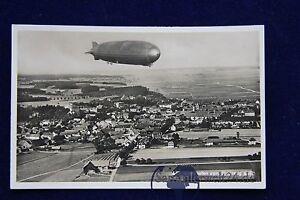 alte-AK-Foto-Bad-Woerishofen-vom-Flugzeug-aus-mit-Zeppelin-1937