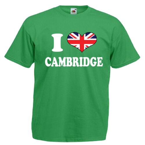 I love coeur Cambridge children/'s kids t shirt