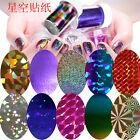Multi-colors Galaxy Nail Art Transfer Wrap Foil Sticker Glitter Tip Decal Decor