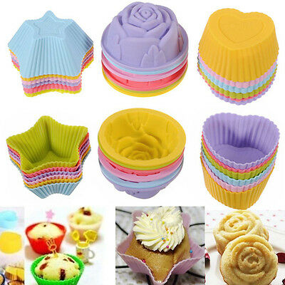 5 Styles Silicone Cake Muffin Chocolate Cupcake Case Liner Baking Cup Mould XMAS