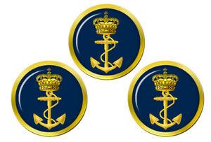 Royal-Danois-Marine-Kongelige-Danske-S-vernet-T-Marqueurs-de-Balles-de-Golf