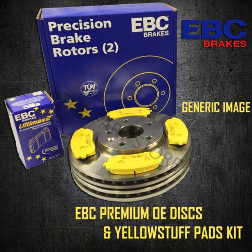 NEW EBC 297mm FRONT BRAKE DISCS AND YELLOWSTUFF PADS KIT OE QUALITY PD03KF684
