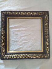 cadre napoléon 3 bois stuc noir doré feuillure 23,5 cm x 23,5 cm photo frame
