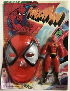 Coffret Cadeau Spiderman Polonais Figurine W Mask Rare Moc