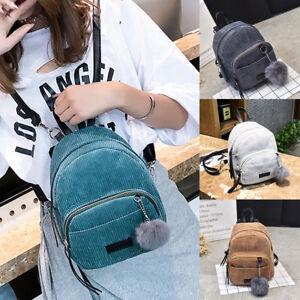 Women-Girls-Velvet-Mini-Backpack-School-Bags-Small-Travel-Rucksack-Shoulder-Bag