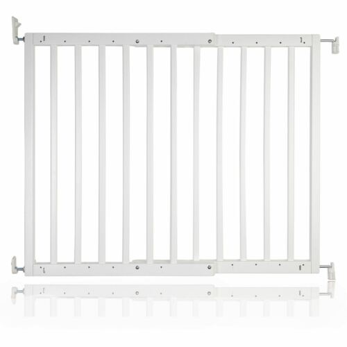 Safetots Chunky White Wooden Stair Gate 63.5-105.5 cm Wooden Baby Gate