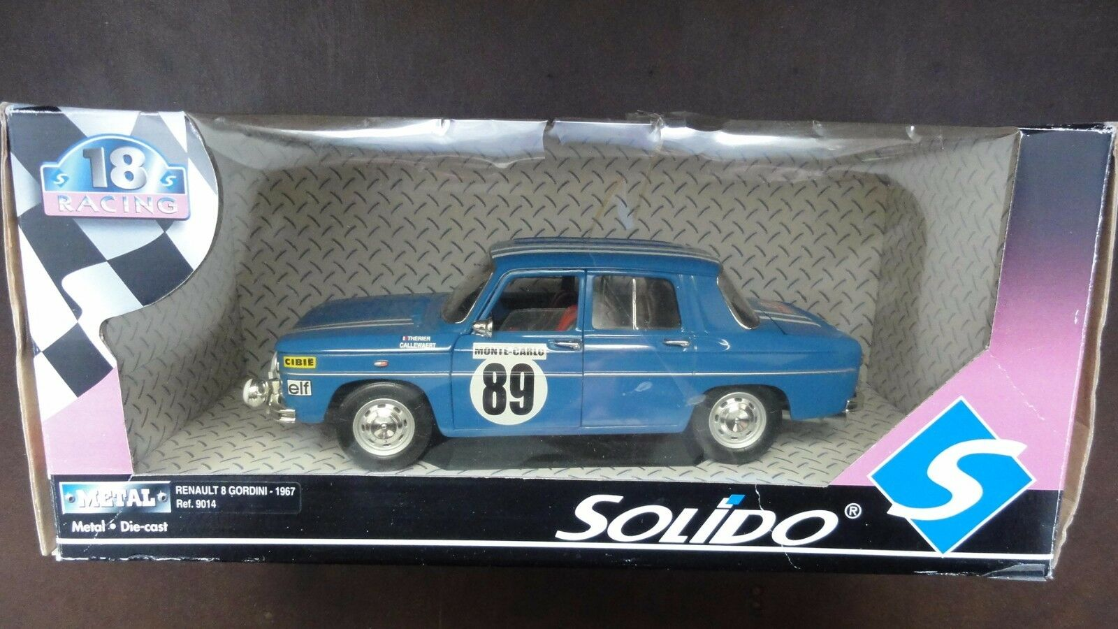 Renault 8 Gordini N89 rally  1 18 - Solido  assurance qualité