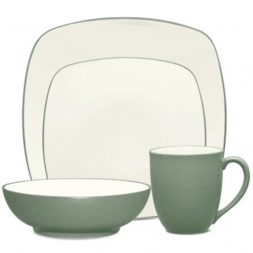 Noritake Colorwave Green Square 32Pc Dinnerware Set Service for 8