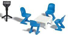 Modellbahn Tische und Stühle 11 teilig Spur H0
