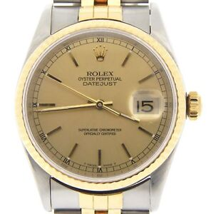 438ce2b387b Rolex Mens Datejust Two-Tone 18K Yellow Gold Steel Watch Jubilee ...