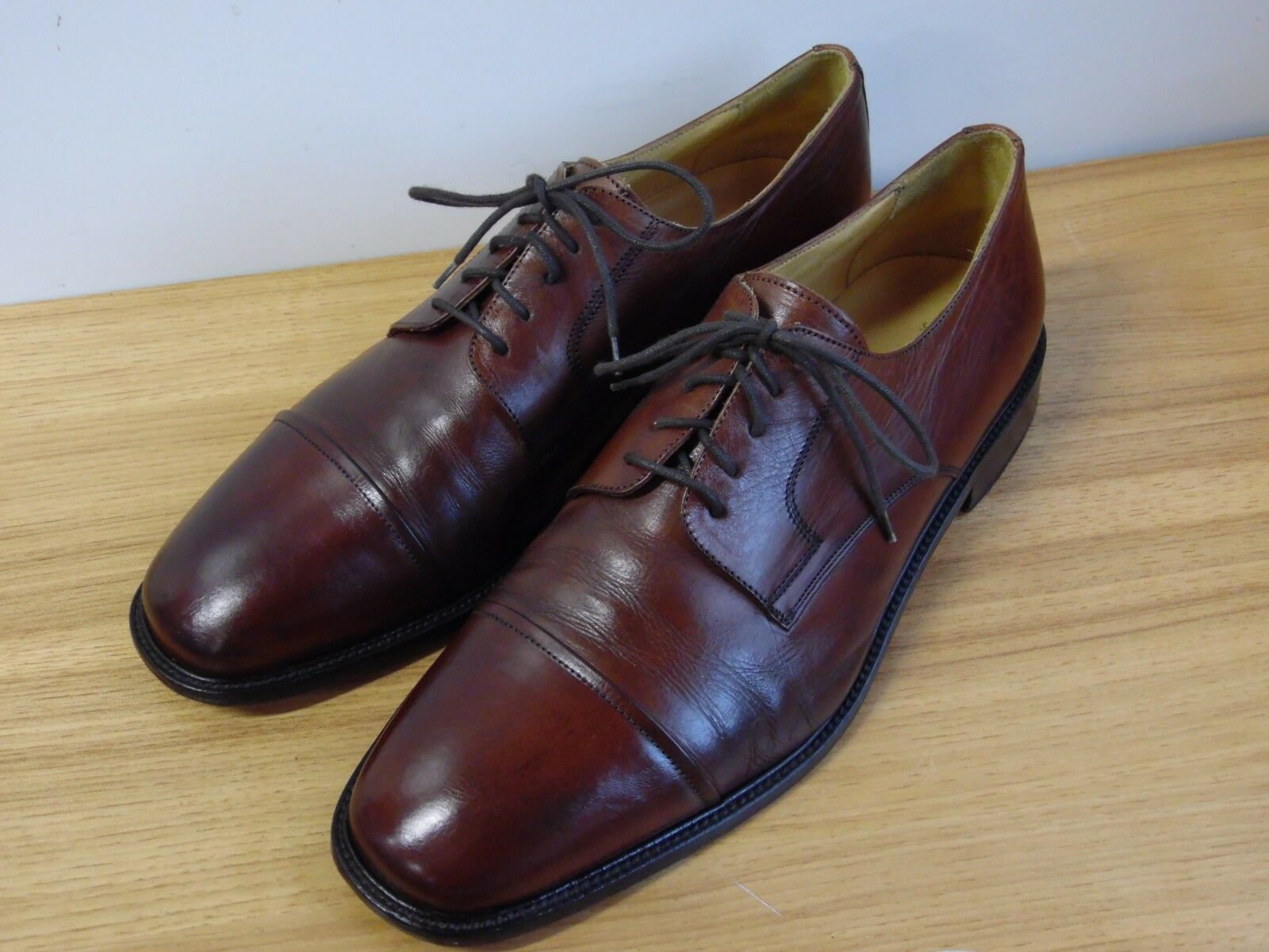 J. Murphy Brown Leather Cap Toe Oxfords Men's 11.5 M  59-11056 Made in