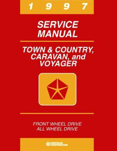 1997 Caravan Voyager Shop Service Repair Manual Book Engine Drivetrain Wiring