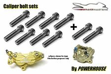 Ducati Stainless joint bolts set Brembo Goldline front & rear brake calipers