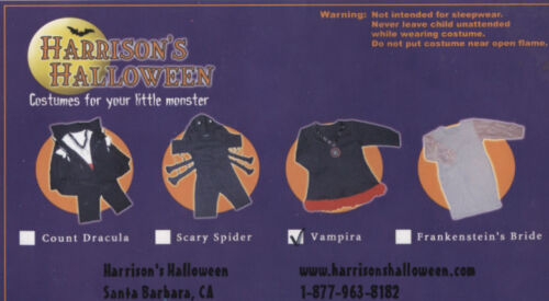 NEW 100/% Cotton Harrison/'s SPIDER  Infant Baby Halloween Costume 0-6Mos NWT