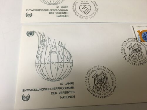 UNITED NATIONS DER VEREINTEN FIRST DAY COVER GENEVA CACHETS