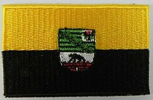 Sachsen-Anhalt-Aufnaeher-gestickt-Flagge-Fahne-Patch-Aufbuegler-6-5cm-neu