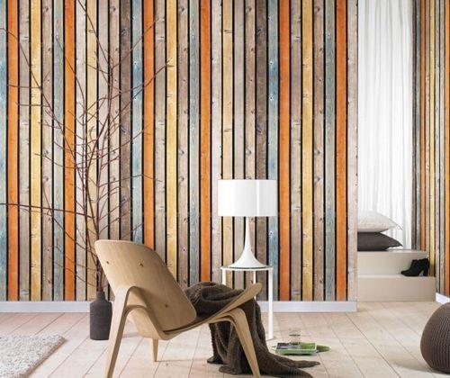3D Farbige Retro Holzbretter 9 Tapete Wandgemälde Tapete Tapeten Bild Familie DE