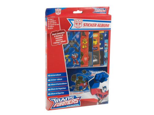 Transformers Sticker Album /& Stickers Sheet Fun Box Set