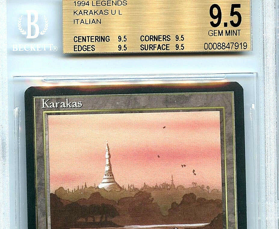 MTG  Italian Italian Italian Legends Karakas BGS 9.5 Gem Mint Magic card true quad 01c3e9