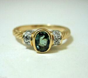 Alexandrite Class Ring Gold Alexandrite Ring 0.55c...