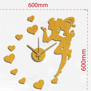 Elegant ... Wanduhr Wandtattoo Gold Wandsticker Uhr Sweet Love Mit