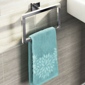 Image Is Loading Steel Chrome Hand Towel Rail Holder Wall Mounted