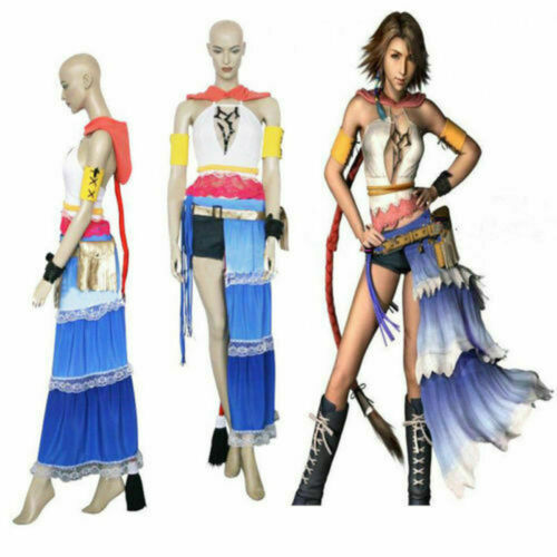 Custom Made Final Fantasy X FFX 2 Yuna Cosplay Costume