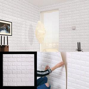 3d brique tanche autocollant mural panneaux papier peint. Black Bedroom Furniture Sets. Home Design Ideas
